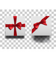 closed square boxes wiht bow set vector image