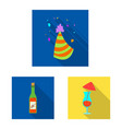 design of party and birthday logo vector image vector image