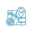 determining the location linear icon concept vector image vector image