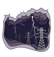electrical energy concept electric power lines vector image