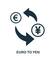 euro to yen icon mobile app printing web site vector image vector image