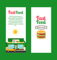 fast food restaurant vertical flyers vector image