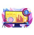 financial management system concept vector image vector image
