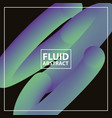fluid abstract background vector image