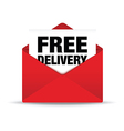 free delivery envelope vector image