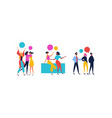 friend set people talking on isolated background vector image vector image