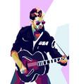 george michael pop art portrait vector image vector image