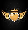 golden heart vector image vector image