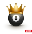 Golf ball with king crown vector image vector image
