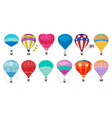hot air balloon romantic colorful flying vector image vector image