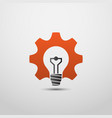 idea gear logo light bulb idea icon brain logo vector image
