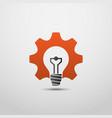 idea gear logo light bulb idea icon brain logo vector image
