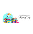 international literacy day book house web banner vector image