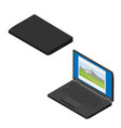 laptop computer collection vector image vector image