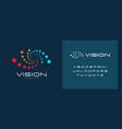 laser vision correction clinic logo concept vector image