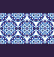 mosaic classic blue and white seamless vector image