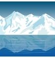 Mountains ashore lake vector image