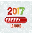 new year 2017 loading bar on winter background vector image