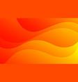 orange waves background fluid gradient vector image