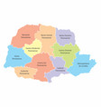 parana state regions map vector image