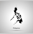philippines country map simple black silhouette vector image vector image