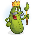 pickle king cartoon character vector image vector image