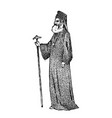 priest in clerical clothing archbishop athens vector image