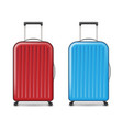 realistic red and blue large travel plastic vector image vector image