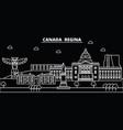 regina silhouette skyline canada - regina vector image vector image