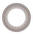 round frame and decorative vintage design element vector image