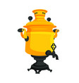 samovar russian item closeup vector image