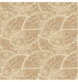 Seamless beige doodle paisley pattern vector image vector image