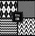 Seamless set fabric pattern vector image