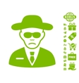 Security Agent Icon With Free Bonus vector image vector image