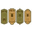 spider juice spider legs halloween bottle label vector image vector image