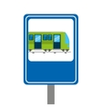 subway transport public icon vector image