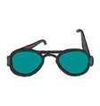summer black sunglasses vector image vector image