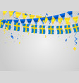 sweden flags celebration background template with vector image