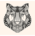 Tiger with abstract pattern vector image vector image