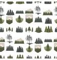 tree outdoor travel pine silhouette coniferous vector image vector image