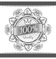 Vintage victorian floral label vector image
