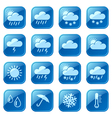 Weather blue icons vector image vector image