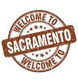 welcome to Sacramento vector image vector image