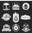 Retro woodwork and carpentry logo set in vector image