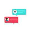 chatbot and chat bubble icons vector image