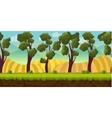 Seamless background trees and hills vector image