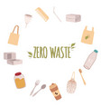 a frame of eco friendly objects around the text vector image vector image