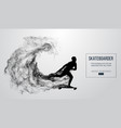 abstract silhouette of a skateboarder vector image vector image