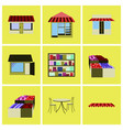 assembly flat icons shop interior vector image vector image