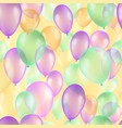 balloons seamless pattern background beautiful vector image vector image